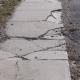 damaged sidewalk