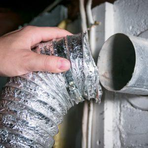 Aluminum dryer vent hose