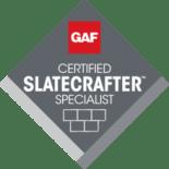 Logo for GAF Certified Slate Crafter Specialist