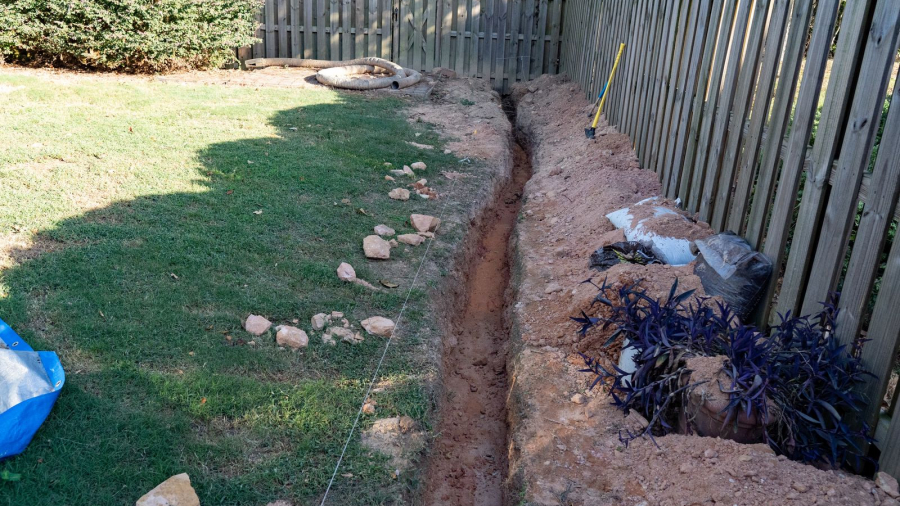 French or trench drain
